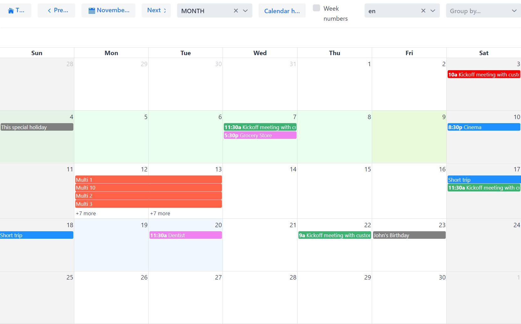 Full Calendar web component | Vaadin Directory | Vaadin