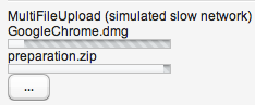 MultiFileUpload loading two files and ready for third