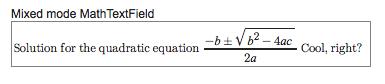 MathTextfield