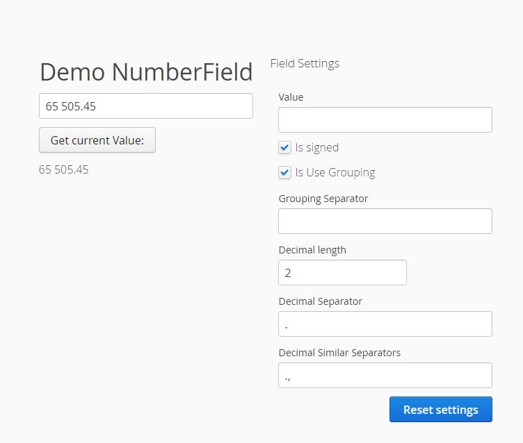 Screenshot from demo