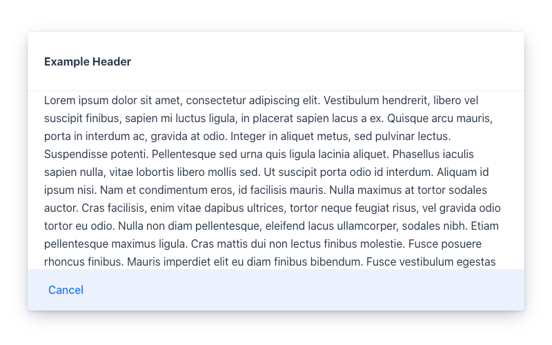 Header, Content and Footer sections