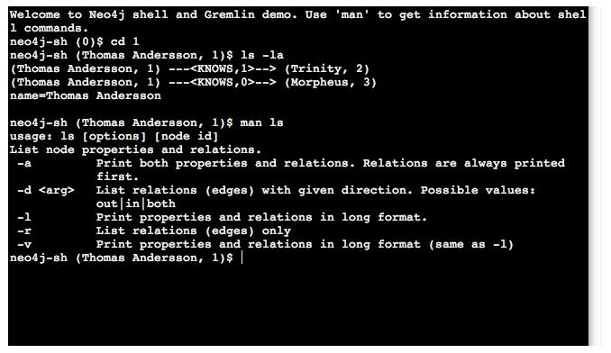 Neo4j Shell Matrix Example