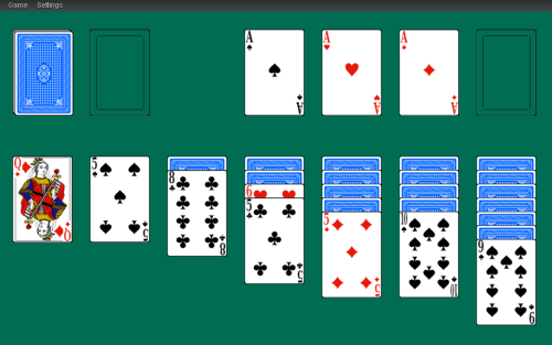 Solitaire game made using PlayingCards