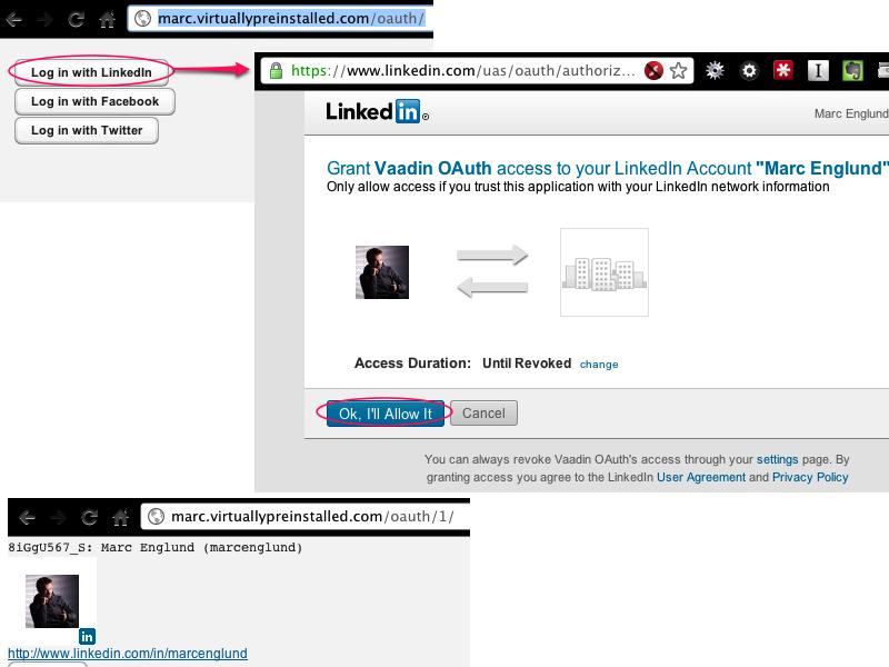Flow example (LinkedIn)