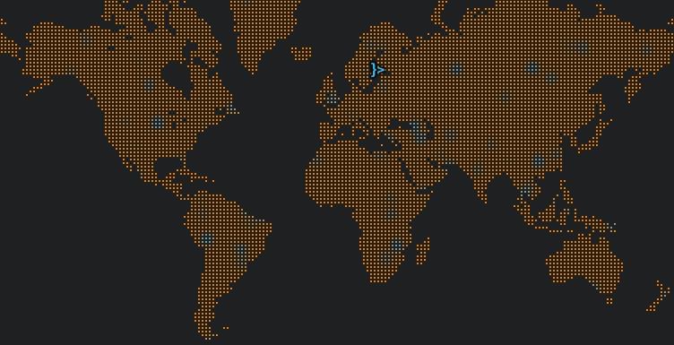 Overlaid highlight on orange map
