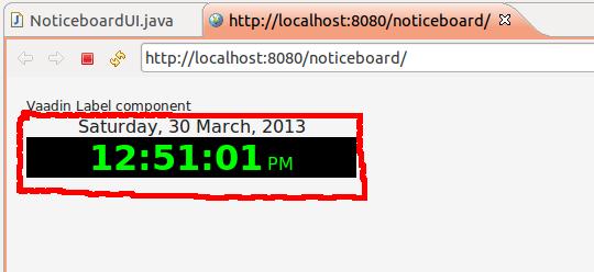 Vaadin Digital Clock