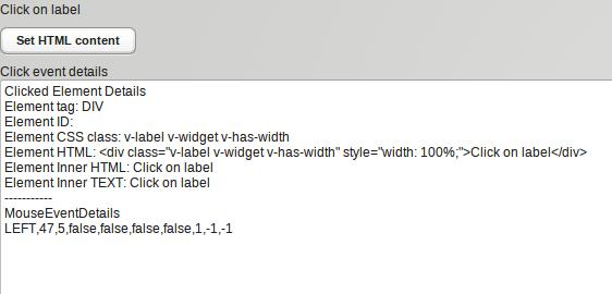 Click on Label widget