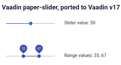 single and range slider