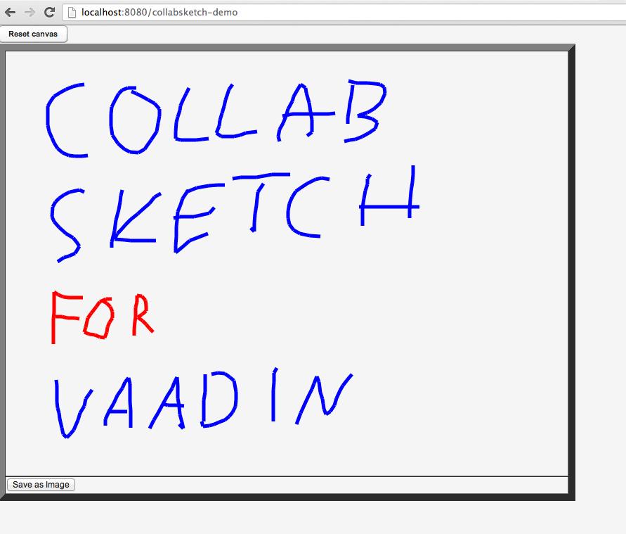 Screenshot of collaborative sketch.