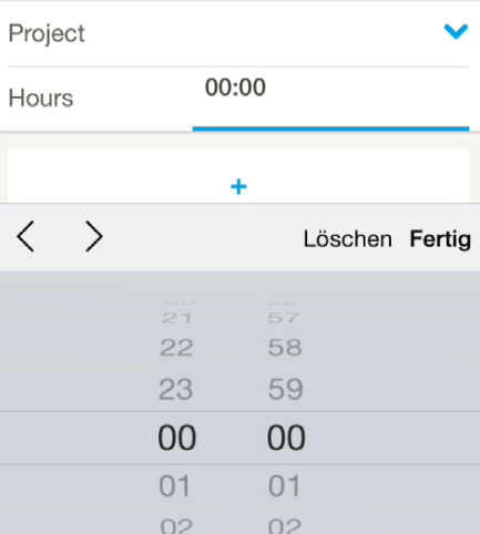 HTML5 time input on an iPhone