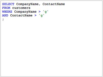 SQL Syntax Highlight