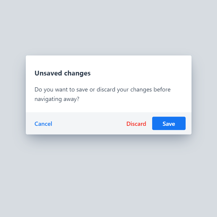 Yes/No/Cancel dialog