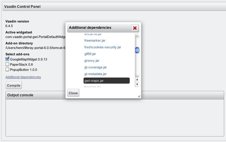 Selecting additional dependencies