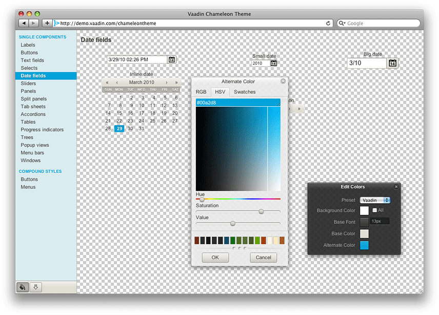 Create a theme with a transparent application background