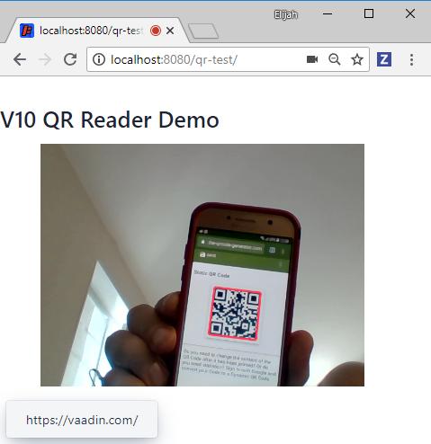 Sample screenshot with URL