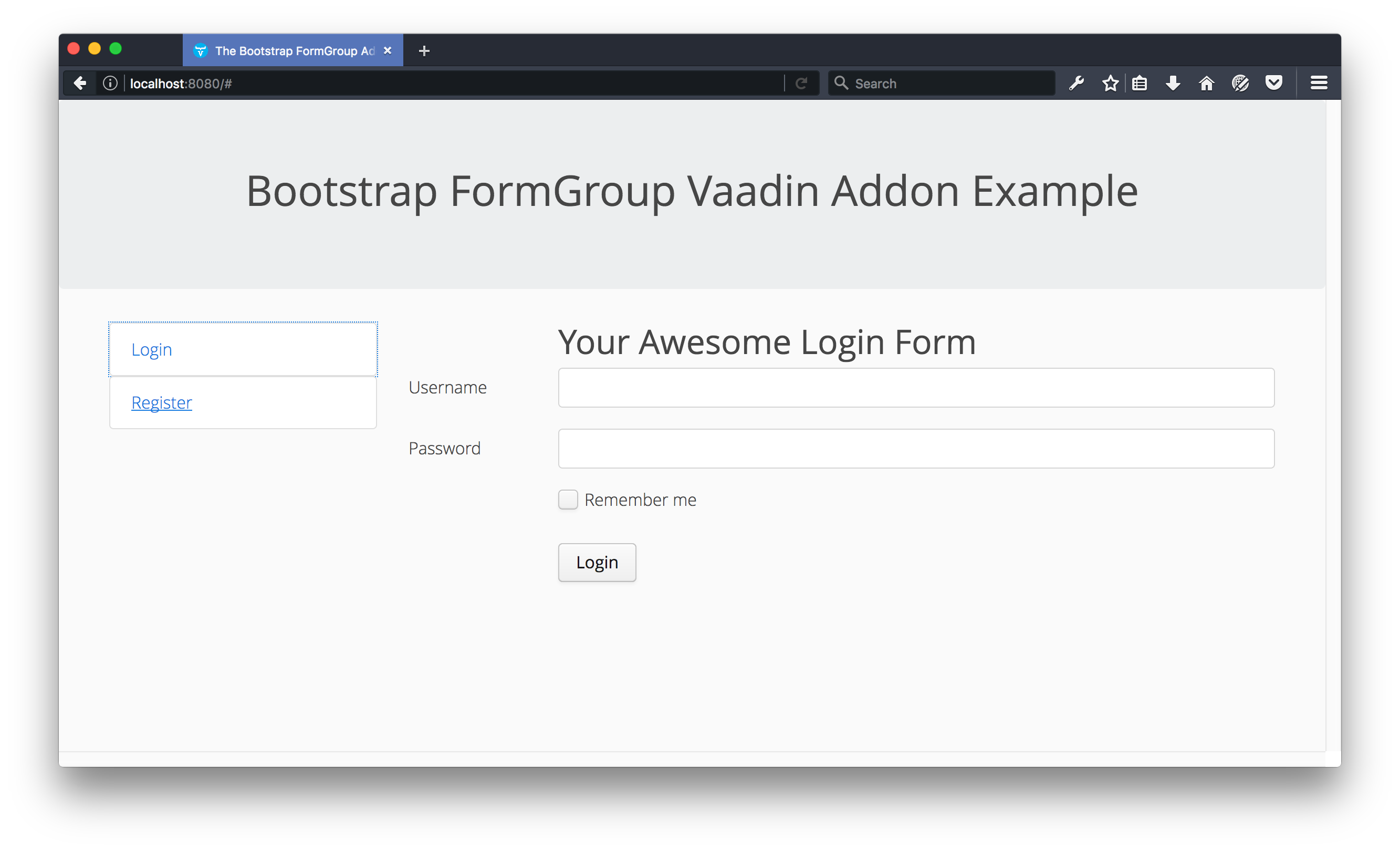 Bootstrap formgroup vaadin directory vaadin highlights falaconquin