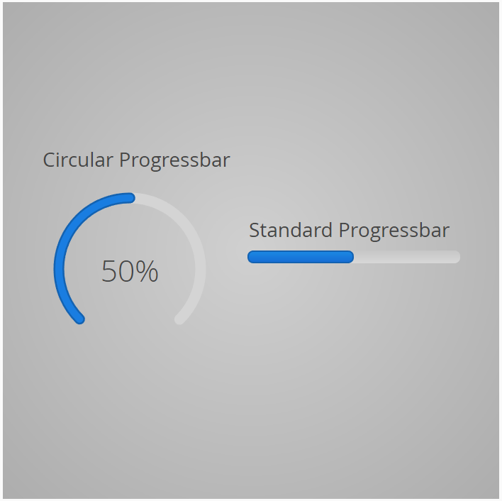 Customized Circular Progressbar - With a scale of 0.75 (rotated via css)