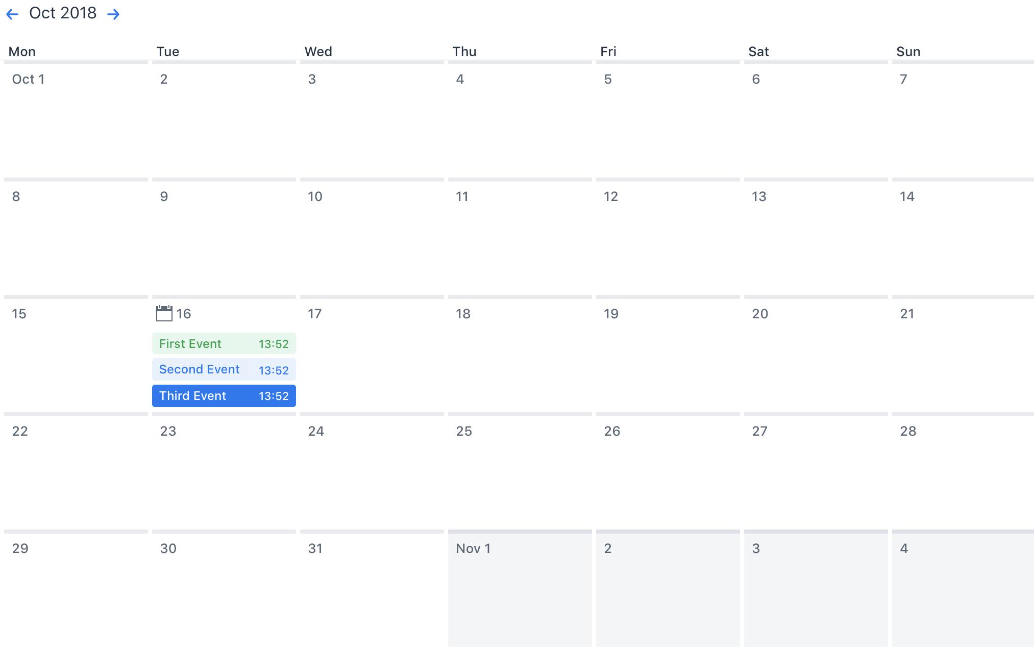 Calendar Component 2
