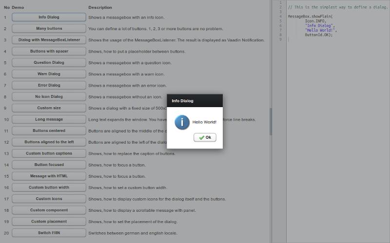 Interactive demo with corresponding source code