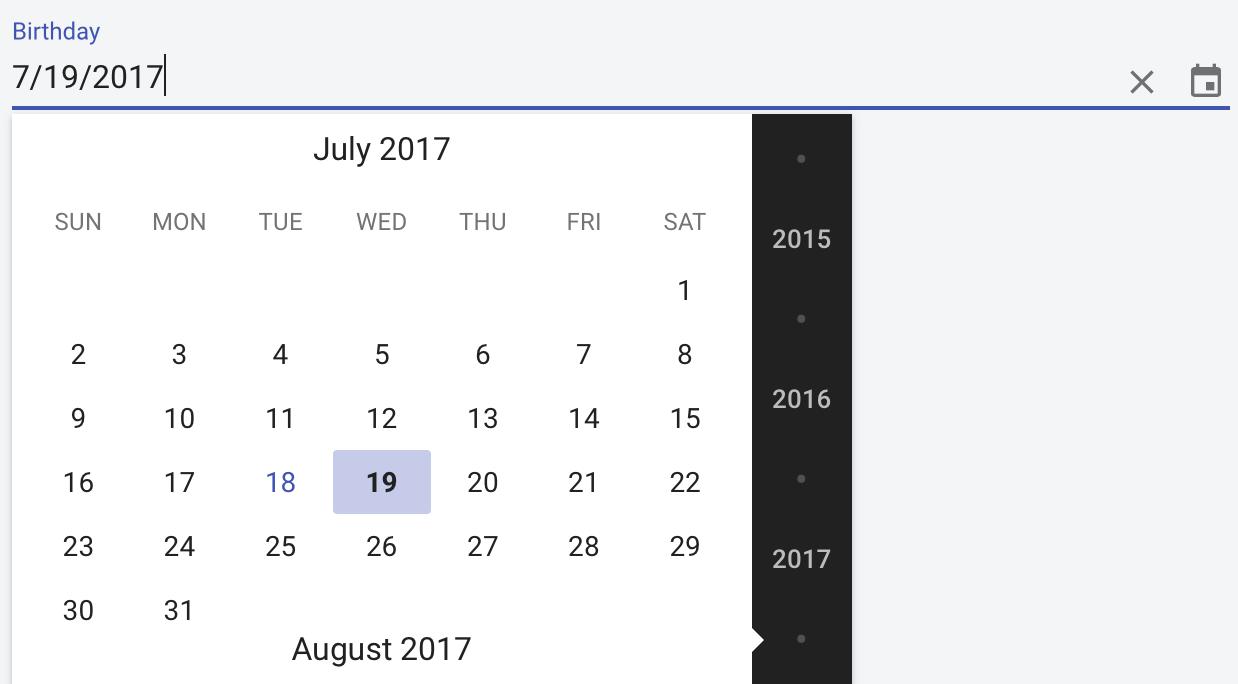 vaadin-date-picker | Vaadin Directory | Vaadin